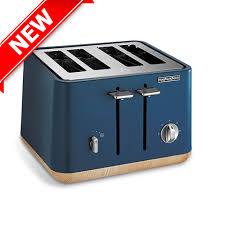 Scandi Deep Blue Aspect 4 Slice Toaster