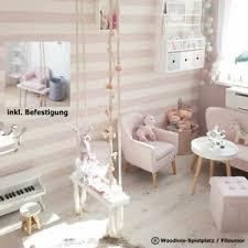details about kinderzimmer indoor schaukel aus holz weiss rosa für kinder und kleinkinder