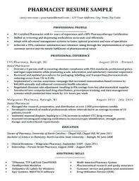 Sample Cover Letter Pharmacist A Resume Download