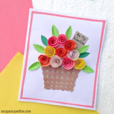 DIY Rolled Paper Roses Valentines Day Or Mothers Card