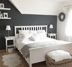 kuhles wandgestaltung schlafzimmer deko grau weiß