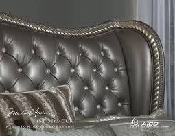 Amazon Hollywood Swank Eastern King Graphite Leather Bed By
