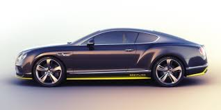 Side profile view of a duo tone limited edition Bentley Breitling Jet Series Continental GT
