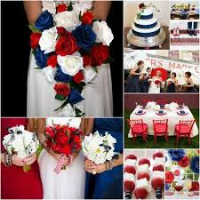 2 Takes On A Red White And Blue Wedding