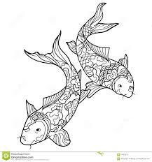 Royalty Free Vector Download Koi Carp Fish Coloring Book
