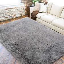 bedee faux lammfell teppich shaggy kunstfell schaffell 180x80cm lammfellimitat teppiche longhair fell universal für wohnzimmer schlafzimmer