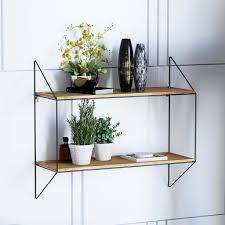 laxllent wandregal aus holz metall schwarz 65x60x23cm industrial stil wandregal schweberegal für küche wohn schlaf badezimmer