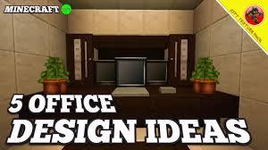Minecraft Kitchen Ideas Youtube by Minecraft 5 Office Design Ideas City Texture Pack Ep 1 Youtube