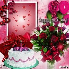Happy Birthday Cake and Roses