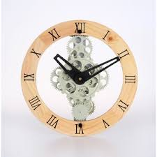 12 Moving Gear Wall Clock By Maples