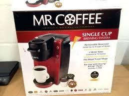 Red Single Serve Coffee Maker K Cup Brewer Machine
