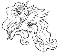Pony Rarity Coloring Pages My Little Princess Cadence Colouring Celestia To Print Free Printable