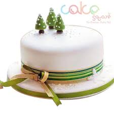 DCC106 Christmas Tree Fondant Designer Christmas Cakes