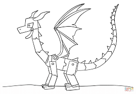 Download Coloring Pages Minecraft Printable Ender Dragon Page Free