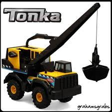 100 Tonka Crane Truck TONKA STEEL CLASSIC MIGHTY CRANE TOY TRUCK TOUGH CONSTRUCTION ZONE