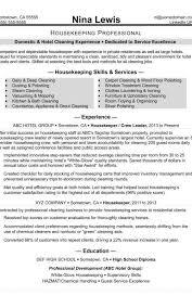 Housekeeping Resume Sample Monstercom