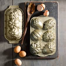 Nordic Ware Pumpkin Cake Pan Recipe by Nordic Ware Fall Cakelet Pan Williams Sonoma Kitchen Cooking