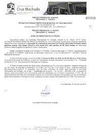 Estado Do Paraná Prefeitura Municipal De Cruz Machado Secretaria