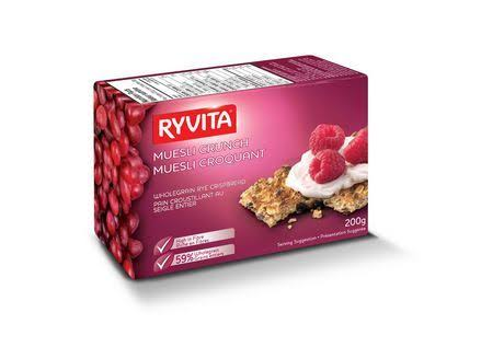 Ryvita Muesli Crunch Whole Grain Rye Crispbread 6 x 200g Canadian