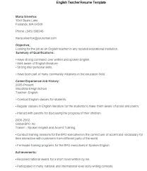 Resume Templates For Teaching Jobs In India Teacher Doc Free Premium Template