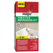 magic 16 oz bath tub and tile refinishing kit in white 3124 the