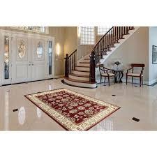 orientalischer teppich ornamente schnörkel wohnzimmer rot creme 80x150cm