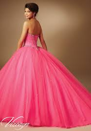 jeweled beading on tulle quinceanera dress style 89043 morilee