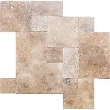 Versailles Tile Pattern Travertine by Travertine Paver Versailles French Pattern Tumbled Flava Sessemo