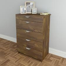 Small Dressers At Walmart by Amazon Com Nocce 5 Drawer Chest 401205 From Nexera Truffle