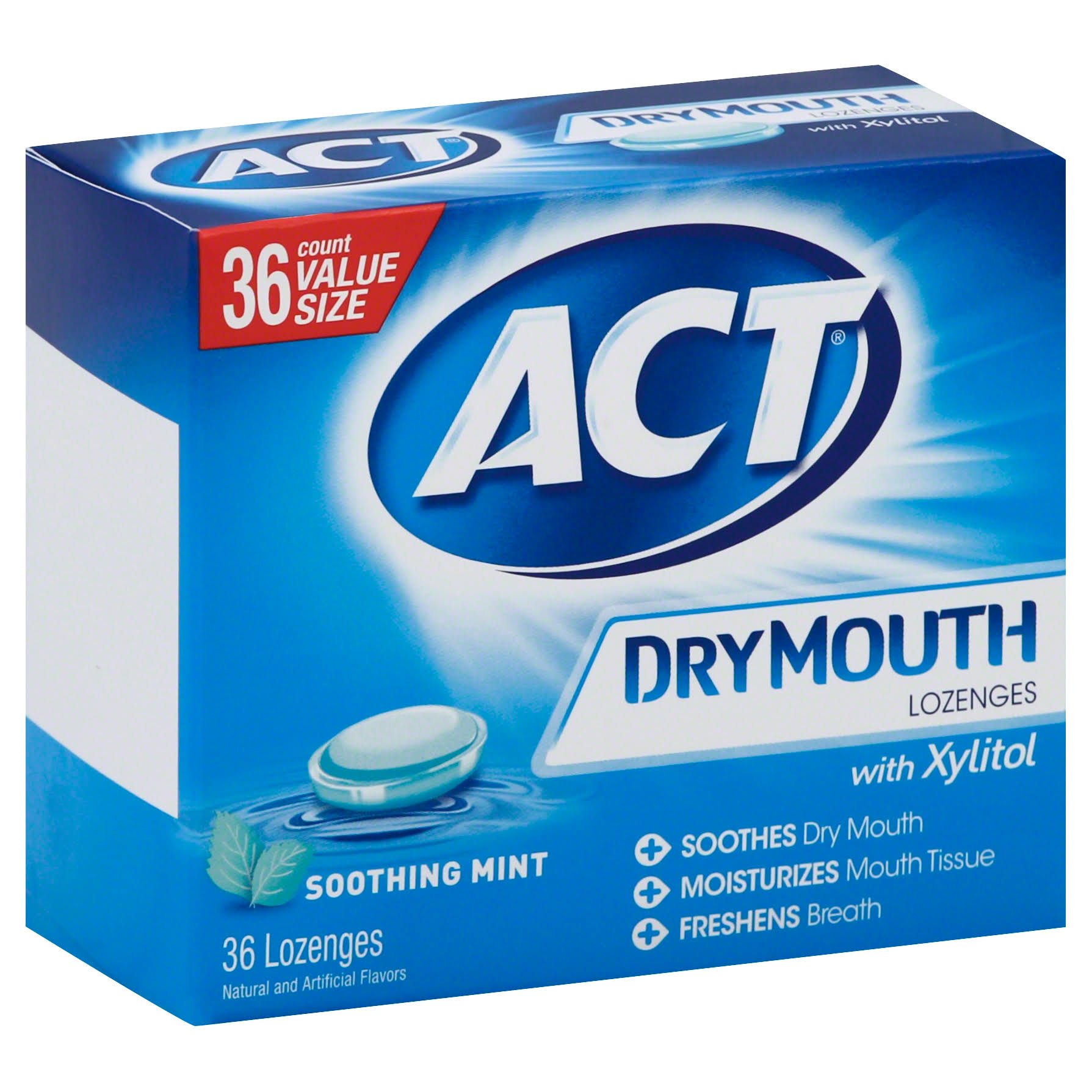 Act Dry Mouth Soothing Mint Lozenges with Xylitol - 36ct