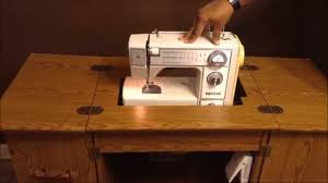 antique sewing machine table singer white neechi morse kenmore
