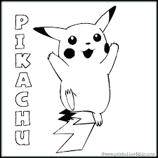 Classy Picachu Coloring Pages L6924 Free Appealing Pikachu Easy