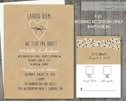Awesome Wedding Reception Invitation Wording After Private Ceremony And Only Invitations On Paper Rustic