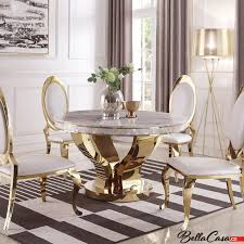 barock tisch davson gold 130 cm rund nachahmung marmor