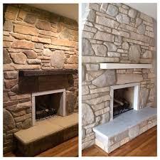 Whitewash Your Brick or Stone Fireplace With CHALK PAINT Chalk