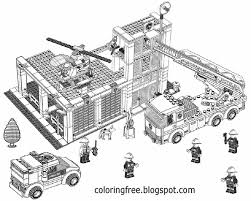 28+ Collection Of Lego Fire Truck Coloring Pages | High Quality ...