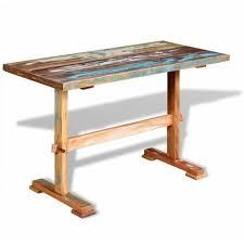 esstisch mit holz untergestell altholz massiv 120x58x78 cm