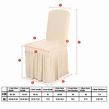 Chair Cover Pleated Solid Color Ruffled Home Dining Spandex Seats Slipcover For Wedding Party Hotel Room