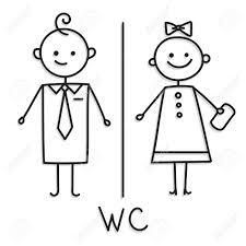 wc zeichen wc türschild symbol badezimmer teller männer und frauen wc zeichen für toilette vektorskizze auf weißer platte