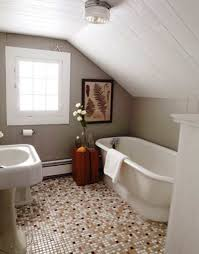 Narrow Bathroom Ideas With Tub by Bathroom Attic Bathroom With Oval White Bathtub And White