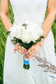 Bride Holding A Bouquet Of Flowers In Rustic Style Wedding Photo By Alex Shifer