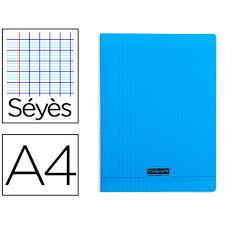Cahier Pique A4 96 Pages Seyes Couverture Polypropylene Bleu