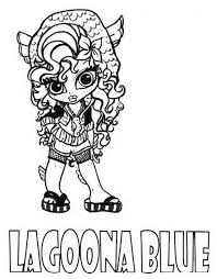 Lagoona Blue Little Girl Monster High Coloring Page