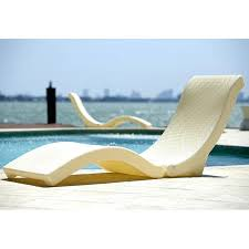 Deck Lounger The Splash Sun Cream Chaise Pool Floater Lounge Chair Cushions Outdoor