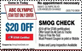 Brake And Lamp Inspection Sacramento by Home Abc Star Stations 20 Smog Coupon