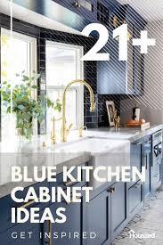 21 White Kitchen Cabinets Ideas 21 Amazing Blue Kitchen Cabinet Ideas In 2021 Houszed