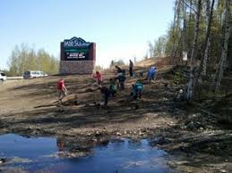 Tree planting Mat Su College partners with Wasilla Soil and Water
