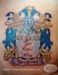 Severino Italian Coat Of Arms Family Crest TATTOO