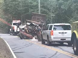 100 Dump Truck Drivers Troopers Driver Dies After Dump Truck Went Off Side Of Road Down A
