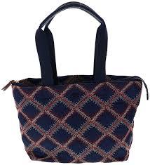 amazon com tory burch nylon flame quilt small tote handbag style